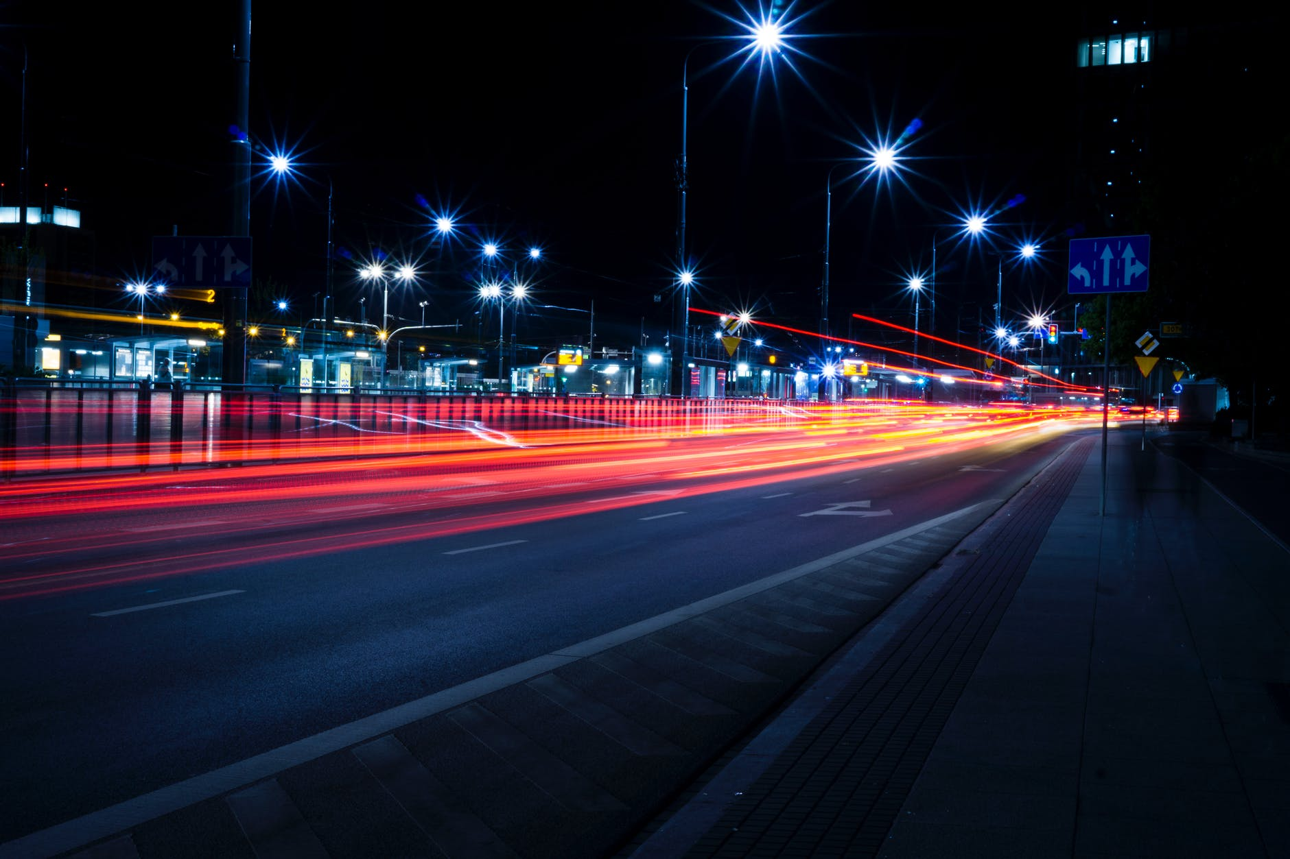 timelapse photography of streets