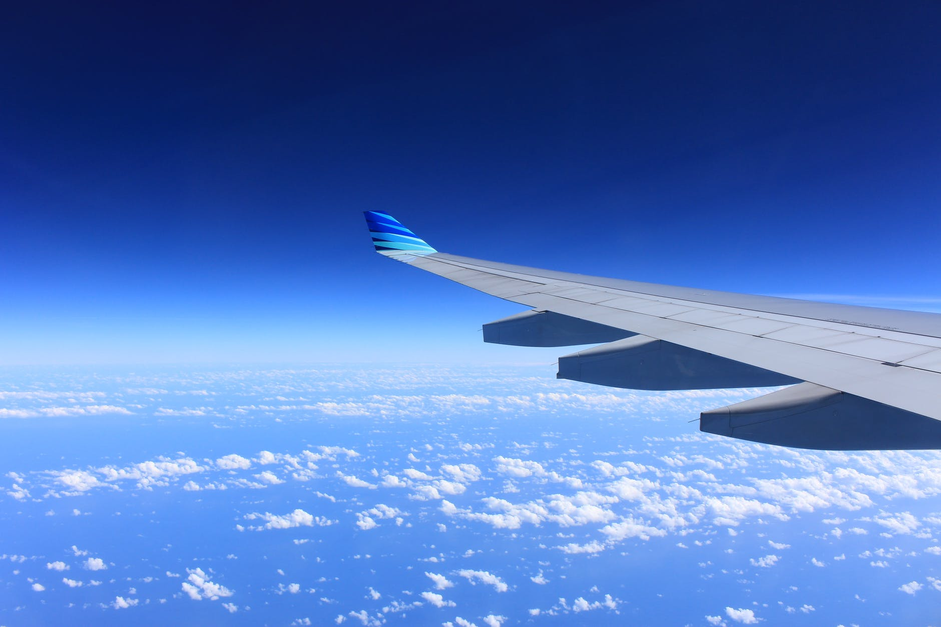 gray plane wing